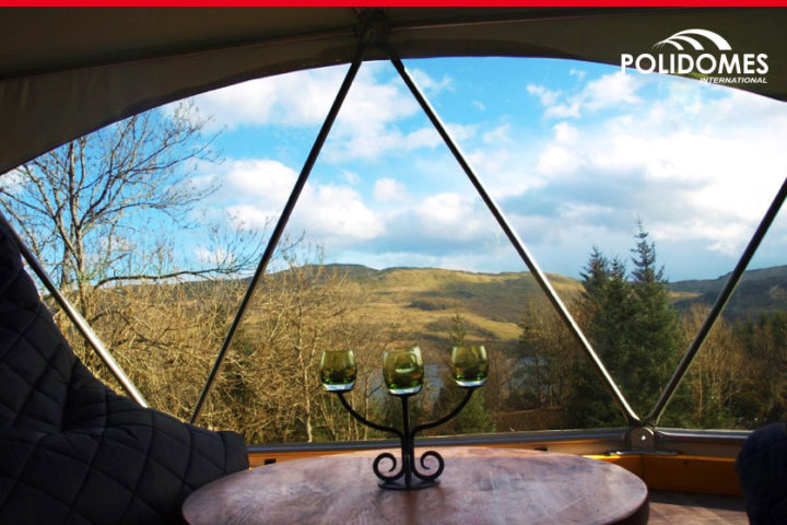 Polidomes glamping view